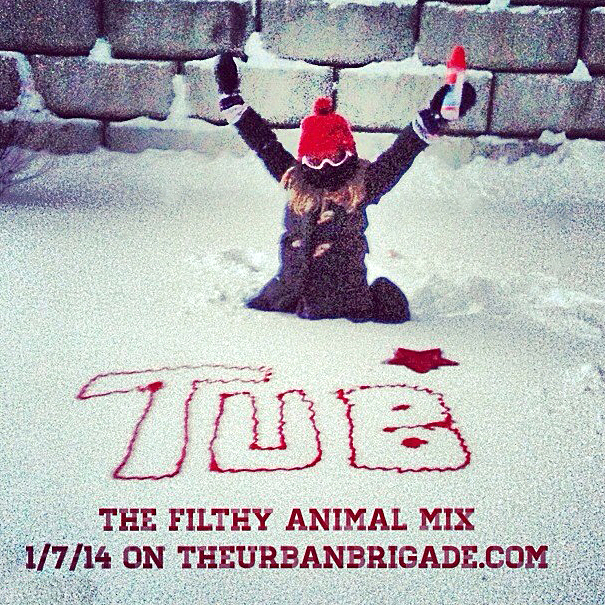 "Cover Art for The Urban Brigade's ""Filthy Animal"" Mixtape"